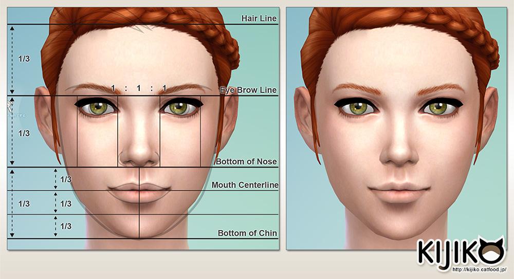 いわゆる黄金比で検索すると出てくる顔のベストプロポーションらしいっす。