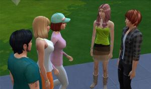 だからさーー!なんで集団で会話してるとわざわざ真ん中通っていくんだよっ!