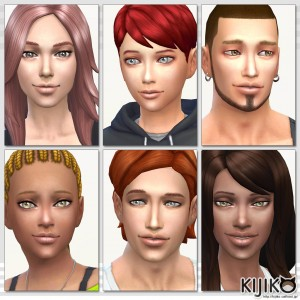 Skin Tones and Body Texture Overhaul for the Sims4 シムズ4 スキントーン テクスチャーオーバーホールは顔にプリセットのテクスチャ変化にも対応しています。