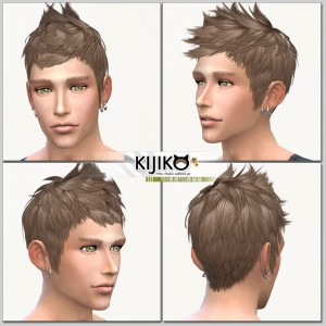 Sims4 hair/ fron,side,back シムズ4 髪型 詳細 こちらは透過ヘアです。