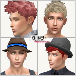 Sims4 hair/other colors and hat styles シムズ4 髪型 帽子スタイル