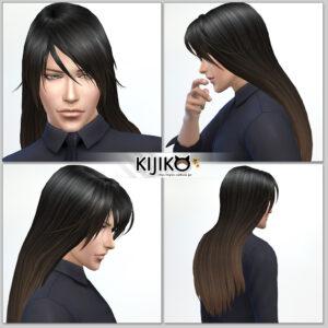 Sims4 hair/ fron,side,back  シムズ4 髪型 詳細 非透過タイプです。ど・ど・ど長髪!ってほど長くもないか…