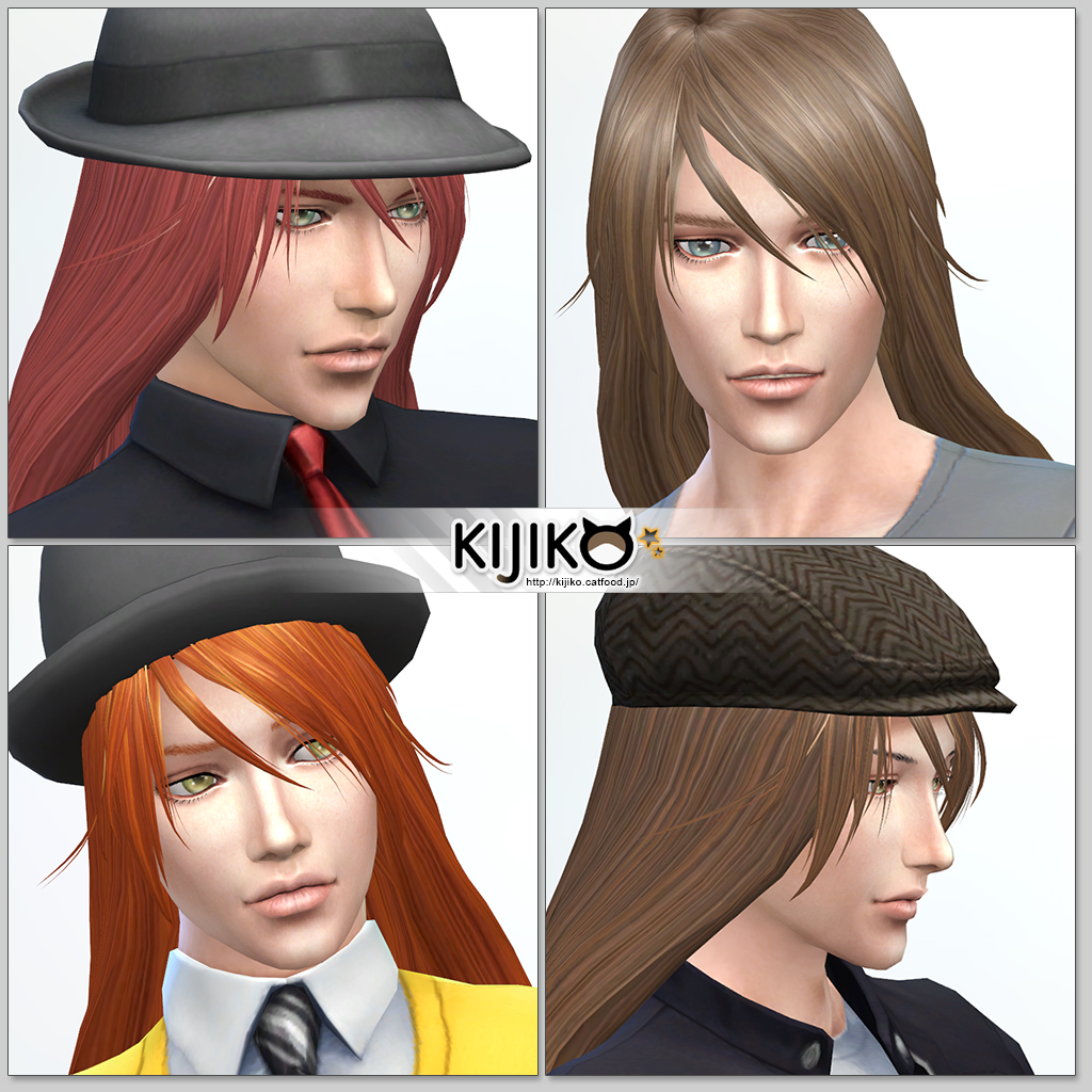 Sims 4 Cc Long Hair For Men - Sims4 hair other colors and hat styles