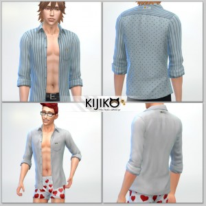 Open Shirt for the SIms4 / looks like sleepwear?? シムズ4 服、前空きシャツです。寝巻きっぽいですね。