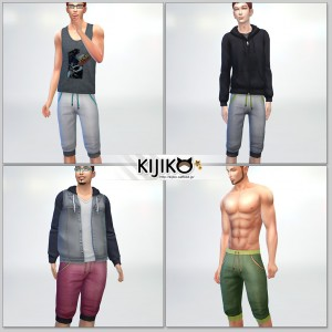 Short Pants for the Sims4,short length and Sporty Look シムズ4 服、スポーツ用っぽいショートパンツです。各体型にも対応しています。
