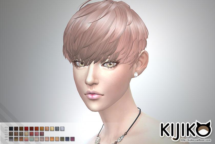Short Hair With Heavy Bangs For Female Kijiko