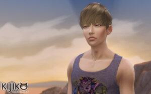 Sims4 hair/In Game シムズ4 髪型 ゲーム内のスクリーンショット シムズの夕焼けはきれいですね。