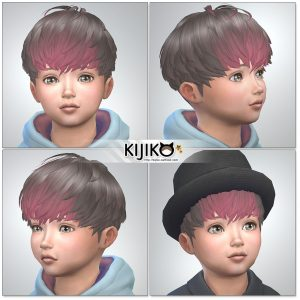 Sims4 hair/ fron,side,back シムズ4 髪型 詳細 非透過タイプです。