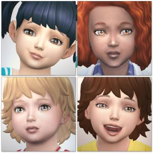 3D lashes for Toddlers (the Sims4)  シムズ4 3Dまつ毛 こちらは幼児用です。