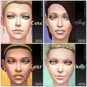 3D Lashes for the Sims4 / Regulat Length styles シムズ4 3Dまつ毛 こちらは通常の長さの各まつ毛デザインです。