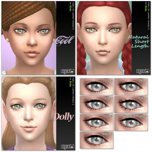 3D lashes for Kids (the Sims4)  シムズ4 3Dまつ毛 こちらは子供用です。