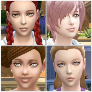 3D lashes for Kids (the Sims4) / InGame  シムズ4 3Dまつ毛 こちらは子供用、ゲーム内のスクリーンショットです。