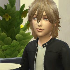 息子です。名前はアレックスです。父譲りの自信家です。飯を食っただけなのにこのドヤ顔。常に根拠のない自信をみなぎらせています。