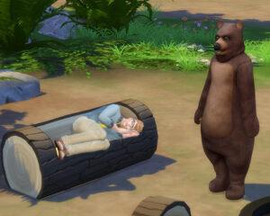 お休み中のお父さんに、クマの着ぐるみ野郎が・・・<br /> 森に必ず一人は居るんですが、クマ役を買って出ている人なんでしょうか?