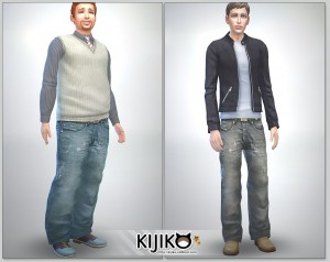 Relaxed Jeans for the Sims4 / Full Length シムズ4 服 リラックスジーンズです。各体型変化にも対応してます。