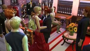 シムを定員いっぱいまで呼ぶとパーティーっぽい雰囲気が増してもりあがりますねー