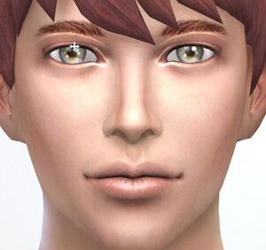 上下で上瞼の開き具合と、左右で瞼のカーブの形状を調整できます。内側へ動かすとカーブのピーク(頂点)が目頭寄りに、外側に動かすと目尻寄りになります。