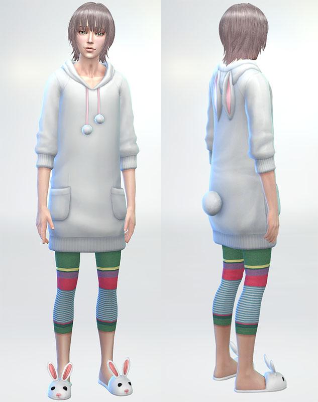 この服は、後ろに付いてるシッポが肝である!と個人的には思ってます。