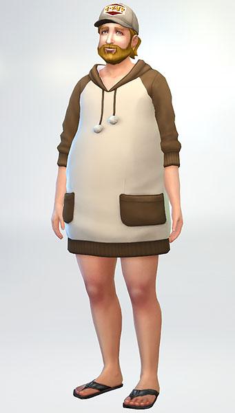 テストなんで、色々な体型に着せてみてます。普通に立ってても可愛くポージングしてるみたいに見えて、腹が立つ。