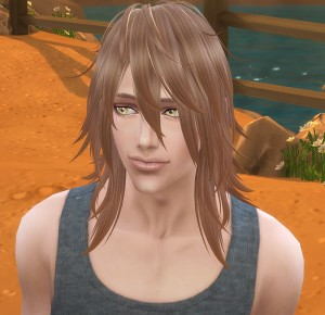今回は男性シムでも比較的使い易い長髪・・・だと思います。