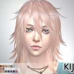 Pink & Fluffy (long hair version) TS4 edition (for Female)