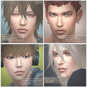 3D Lashes for the Sims4 / Long styles for Male シムズ4 3Dまつ毛 ロングスタイルを追加しました。こちらは男性に使用してます。