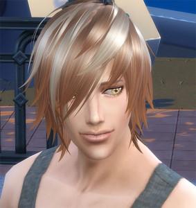 またコイツかね。と言うか、もうすっかり髪型テスト要員なシムです。そしていつものうすらスマイル。
