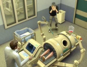 いよいよ生まれます。さっきまで病院の備品を拝借しようとしていたレックス君も思い出したようにうろたえてみたり。雑な手術で赤ん坊を取り上げ中。