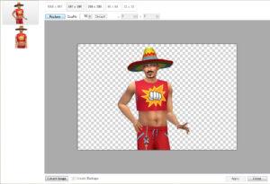 使い方に特に難しいところも無く、書き換えたい画像を選択Replaceを押して、書き換える画像を開く→Apply、以上で完了です。