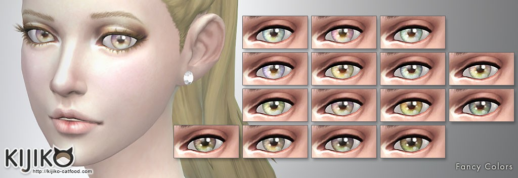 Non-Default Eyecolors for the Sims4,Fancy Colors シムズ4 ノンデフォルトアイカラー 非ナチュラルカラー