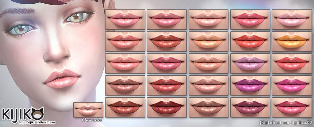 Make up for the Sims4 Hi-gloss lip gloss シムズ4 ハイグロス リップグロス