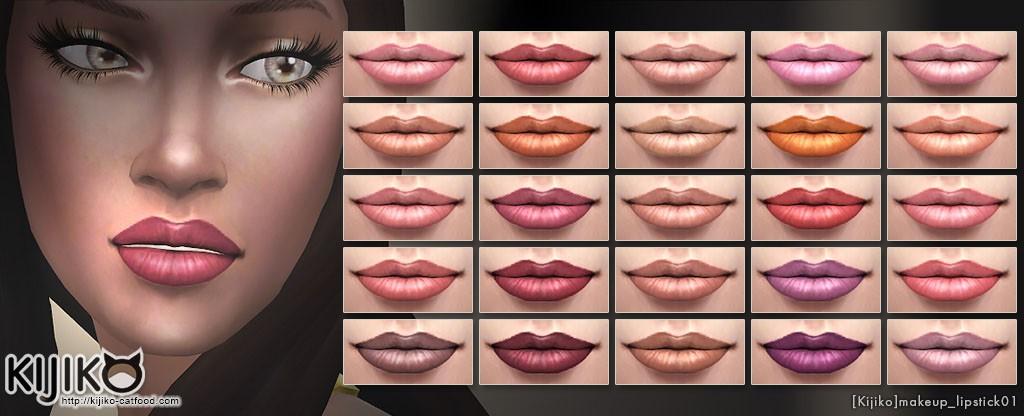 Make up for the Sims4 Semi matte lipstick シムズ4 セミマット リップスティック