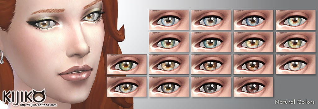 Non-Default,Natural Eyecolors for the Sims4  シムズ4 ノンデフォルトアイカラー ナチュラルカラー