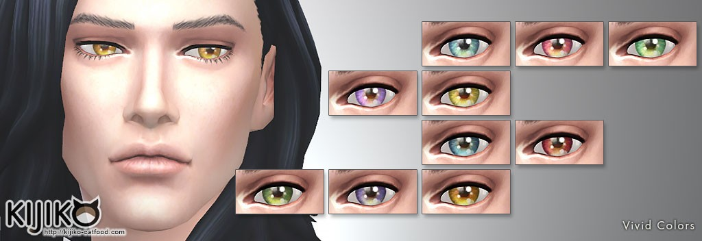 Non-Default Eyecolors,Vivid Colors シムズ4 ノンデフォルトアイカラー ビビットカラー