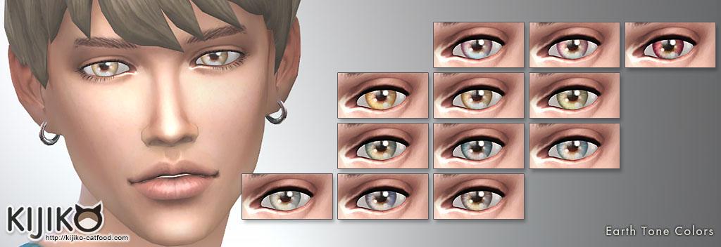 Eye colors – Default Replacement + Non-default colors – Kijiko