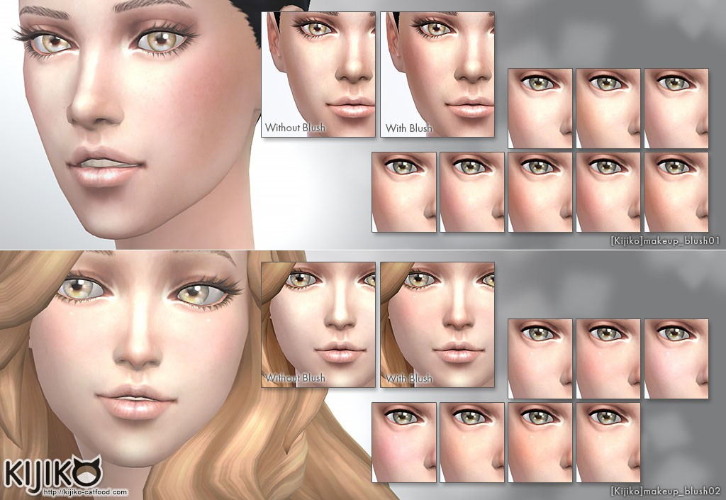 Make up for the Sims4 Blush pack シムズ4 チーク セット