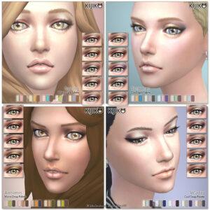 Sims4 Contrast color eyeshadow シムズ4 コントラストカラー アイシャドウ