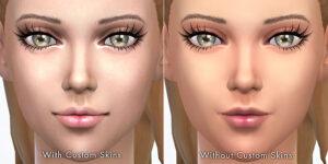 Depending on custom skins,semi-transparent lip colors will look different.
