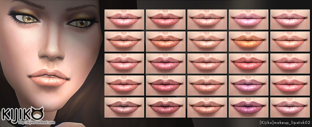 Make up for the Sims4 Semi transparent lipstick シムズ4 セミトランスペアレント リップスティック