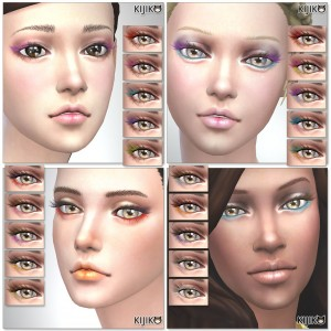 Sims4 Makeup 20 colors eyelashes シムズ4 3Dまつ毛 20色