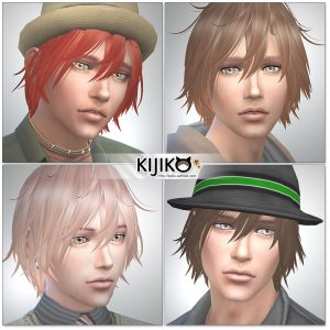 Sims4 hair/other colors and hat styles  シムズ4髪型 帽子スタイル