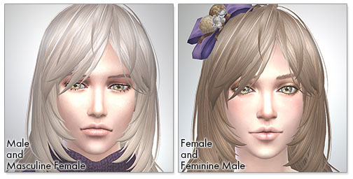 for the SIms4,Long Layered Hair シムズ4 髪型 Long Layered Hairです。