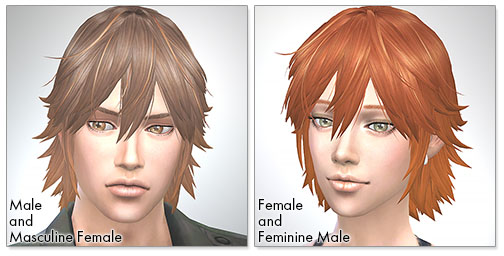 for the Sims4,Spiky Layered シムズ4 髪型 Spiky Layeredです。