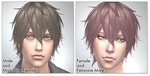 for the Sims4,Night Fog TS3 to TS4 conversion シムズ4 髪型 Night Fogコンバート版です。女性にも使えるようになりました。