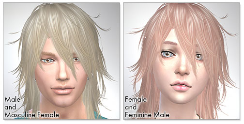 for the Sims4,Shaggy Hair (long hair version) TS3 to TS4 conversion シムズ4 髪型 Shaggy Hair (long hair version) コンバート版です。
