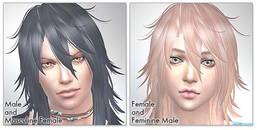 for the SIms4,Shaggy Hair (long hair version) TS4 edition シムズ4 髪型 Shaggy Hair (long hair version) TS4 editionです。