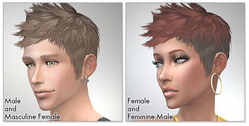 for the Sims4,Faux hawk TS3 to TS4 conversion シムズ4 髪型 Faux hawkコンバート版です。女性にも使えるようになりました。