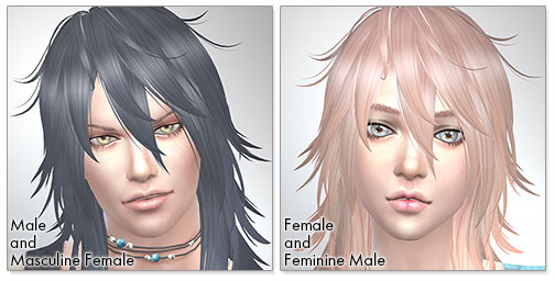 for the SIms4,Shaggy Hair (long hair version) TS4 edition シムズ4 髪型 Shaggy Hair (long hair version) TS4 editionです。