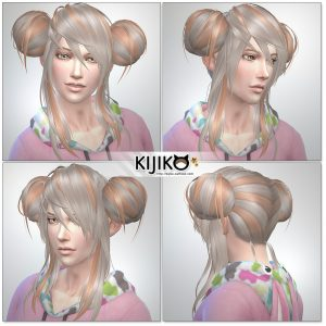 Sims4 hair/ for Male / Masculine Frame シムズ髪型 詳細
