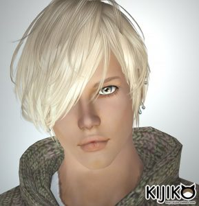 sim3 hair Verte (for Male) Flipped version シムズ3 髪型 Verte (for Male) 反転版